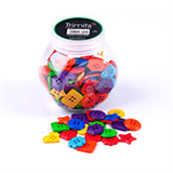 Jar of Craft Buttons - Shapes