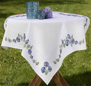 Stitch Garden Morning Glory Tablecloth Kit