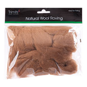 Trimits: Natural Wool Roving