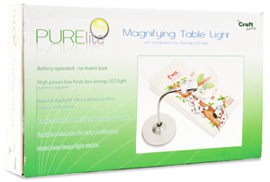 Purelite Magnifying Table Lamp