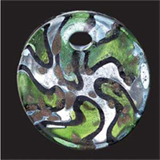 Deluxe Glass Pendant - Circle Green/Silver