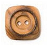 Button - Wooden Square  Size 23mm