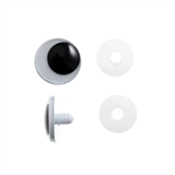 Toy Eyes: Safety Googly: 15mm: Black: Pack of 4