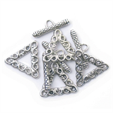 Toggle Clasp - Triangle - 19 x 19mm: Silver Plated