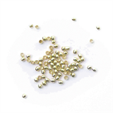 Crimp Bead - Gold Plated - 1.5mm - Pack of 80