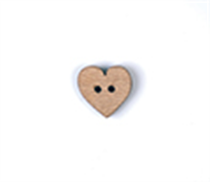 Loose Wooden Heart Buttons: Size 20mm