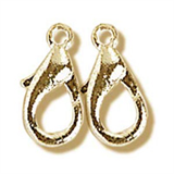Trigger Clasp: Gilt: 10mm: Pack of 3