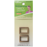 Clover Rectangle Rings: 25mm: Satin Bronze