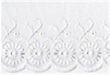 Lace: Broderie Anglaise: 75mm wide: White