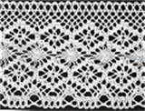 Lace: Cotton: 95mm wide: White
