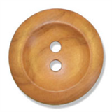 Button - Olive Wood Round Size 45 lignes/28mm