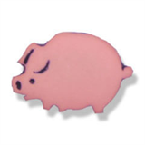 Novelty Button - Pig