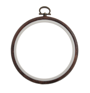 Flexi Hoop Round: Wood Grain