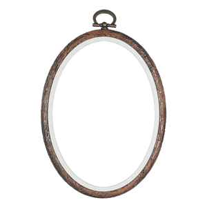 Flexi Hoop Oval: Wood Grain