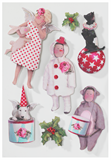 Tilda 3D Stickers: Christmas Play