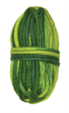 Needle Felting: Pencil Roving Vari Green