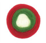 Needle Felting: Christmas Roving Roll
