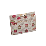 Craft Bag with Wooden Handles: Patisserie