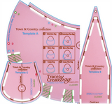 Clover Bag Templates: Trace n Create: Town & Country
