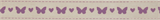 Ribbon - Bowtique Butterflies: Natural/Lilac
