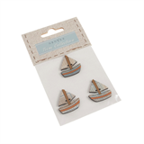 Carded Buttons: Boat: Size: 2mm: Pack: 3