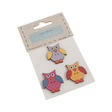 Wooden Buttons - Crafting Owls
