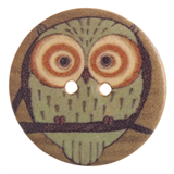 Patterned Button Owl: 32 Lignes/20mm