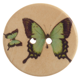 Patterned Button Butterfly: 48 Lignes/30mm