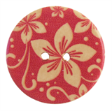 Patterned Button Floral: 32 Lignes/20mm