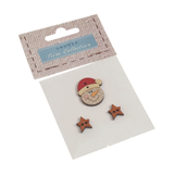 Carded Buttons: Snowman With Stars