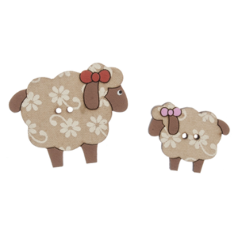 Wooden Buttons - Sheep