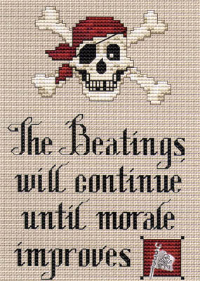 Pirate's Creed Cross Stitch Chart (w/chm)