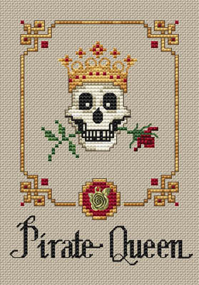 Pirate Queen Cross Stitch Chart (w/charms)