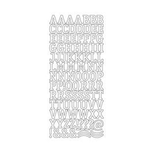 Peel and Stick Capital Alphabet - Silver