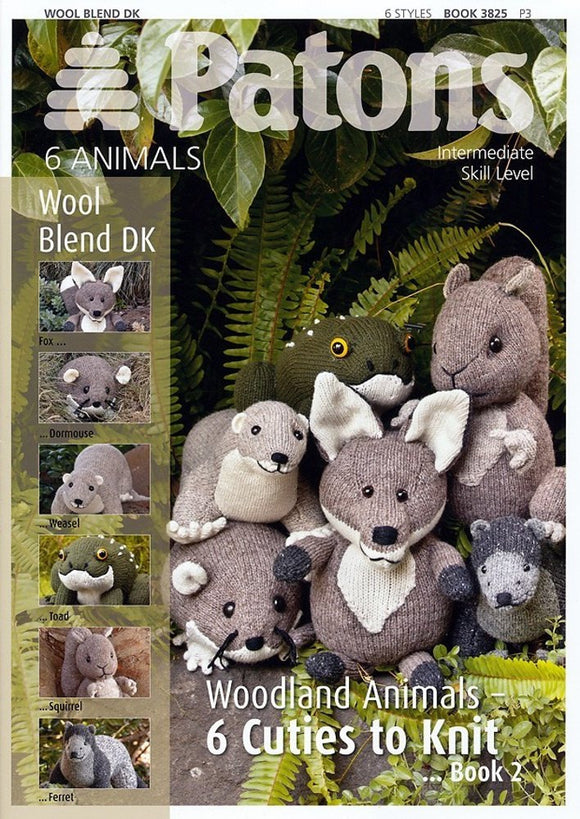 Woodland Animals 2 - Patons Pattern Book 3825