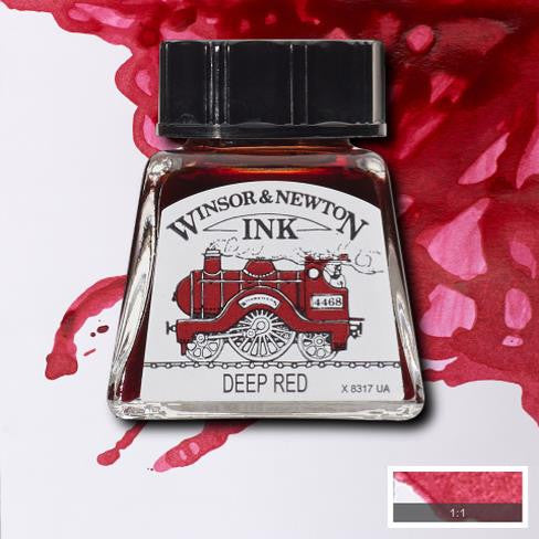 Winsor and Newton Ink 14ml – Deep Red