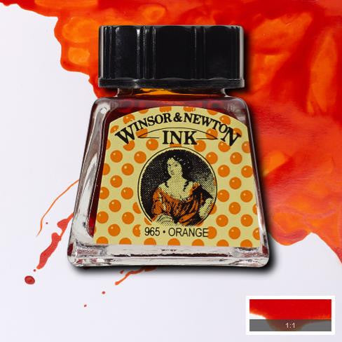 Winsor and Newton Ink 14ml – Orange