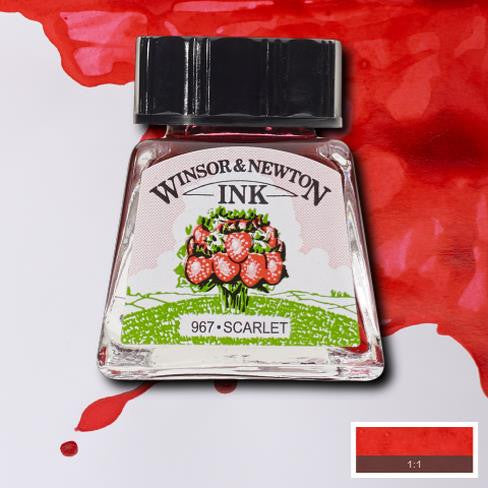 Winsor and Newton Ink 14ml – Scarlet