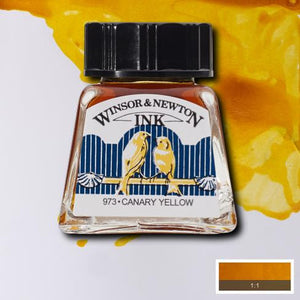 Winsor and Newton Ink 14ml – Canary Yellow