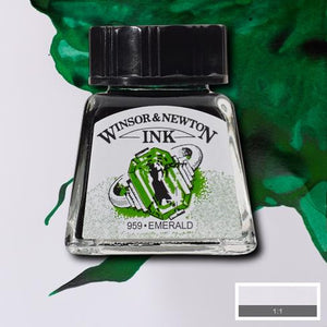 Winsor and Newton Ink 14ml – Emerald