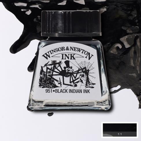 Winsor and Newton Ink 14ml – Black Indian Ink