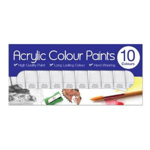 Acrylic Colour Paints – 10 x 6ml