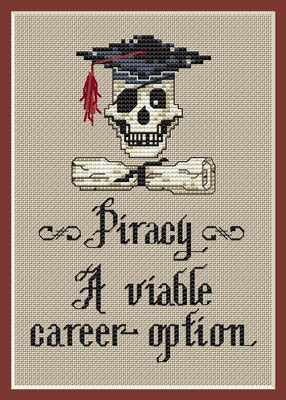 Piracy Cross Stitch Chart