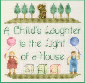 Child's Laughter Cross Stitch Chart (w/chm)