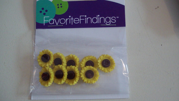 Novelty Buttons - Sunflower