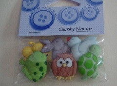 Novelty Buttons - Chunky Nature