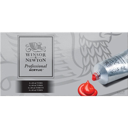 Winsor and Newton Professional Acrylic Artists' Acrylic Tube Set 6 X 60ml