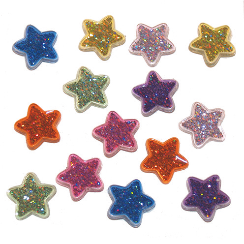Dress It Up Buttons by Jesse James - Glitter Stars