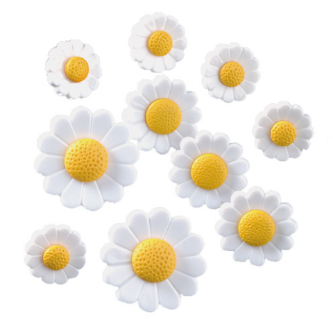 Novelty Buttons - Just Daisies