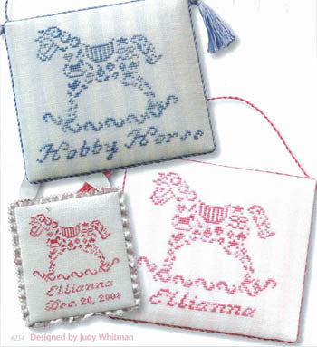French Country Hobby Horse Cross Stitch Chart